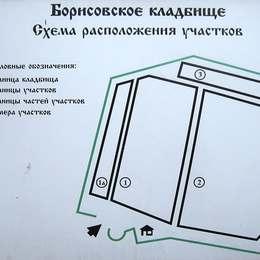 Схема Борисовского кладбища