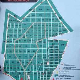 Схема Домодедовского кладбища