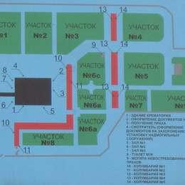 Схема территории хованского крематория