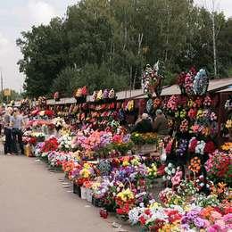 Продажа венков и букетов, Митинское кладбище