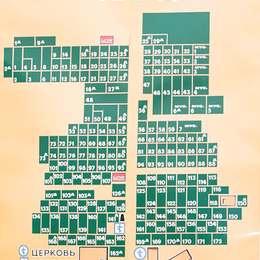 Схема Митинского кладбища
