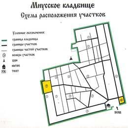 Схема Миусского кладбища