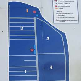 Схема Раевского кладбища