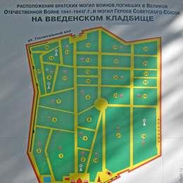 Схема Введенского кладбища