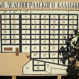 План Зеленоградского кладбища